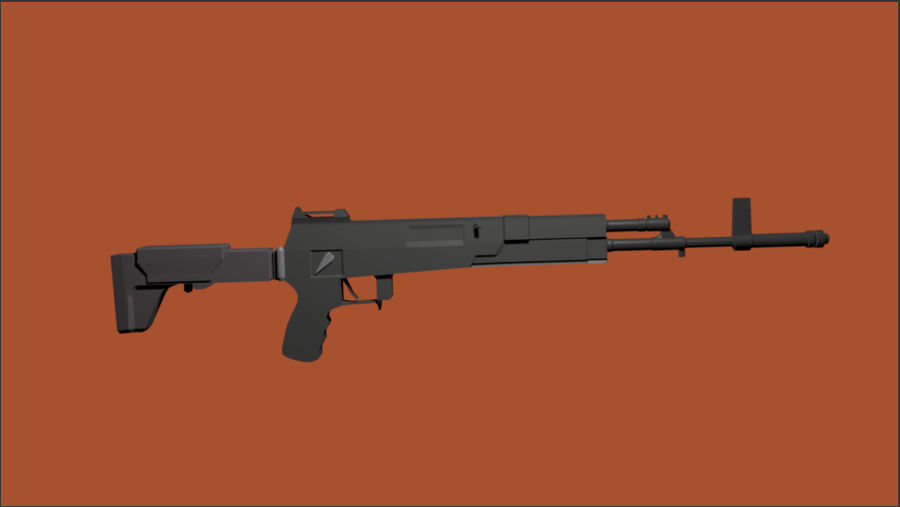AK-12 geweer royalty-free 3d model - Preview no. 8