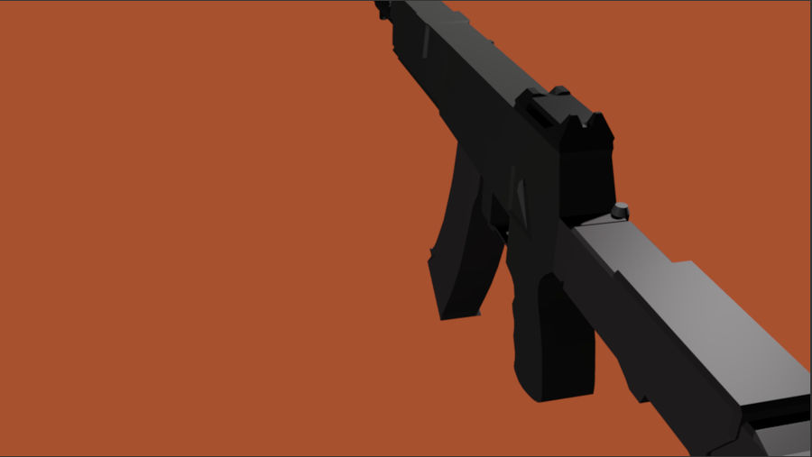 AK-12 geweer royalty-free 3d model - Preview no. 5