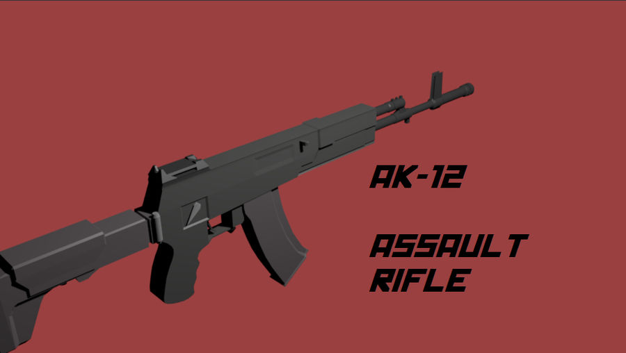 AK-12 geweer royalty-free 3d model - Preview no. 1