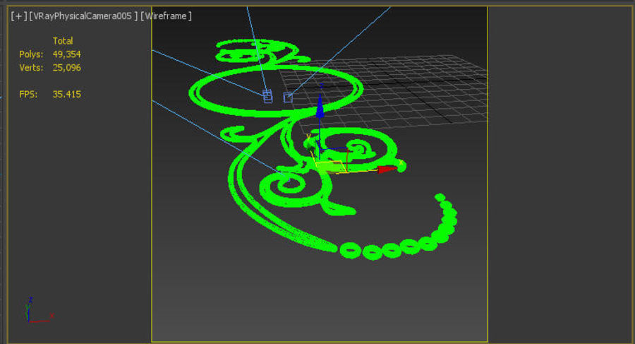Ornamental Design 02 royalty-free 3d model - Preview no. 6