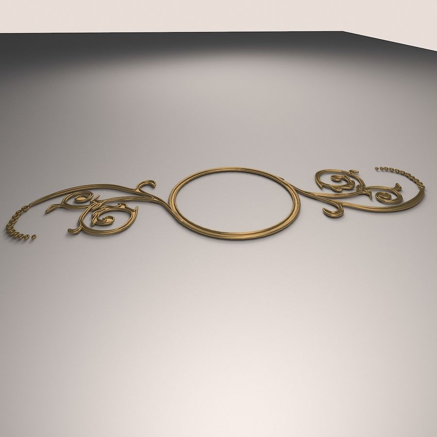 Ornamental Design 02 royalty-free 3d model - Preview no. 2