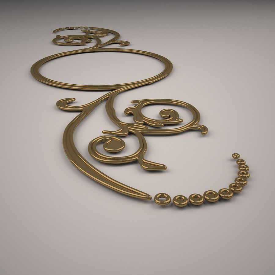 Ornamental Design 02 royalty-free 3d model - Preview no. 5