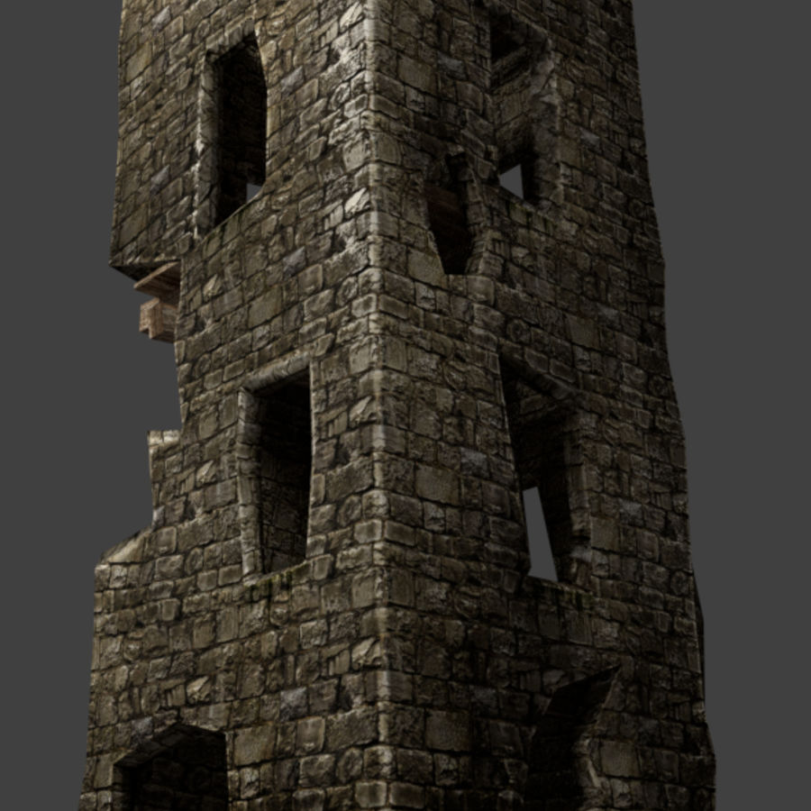 castle tower royalty-free 3d model - Preview no. 17