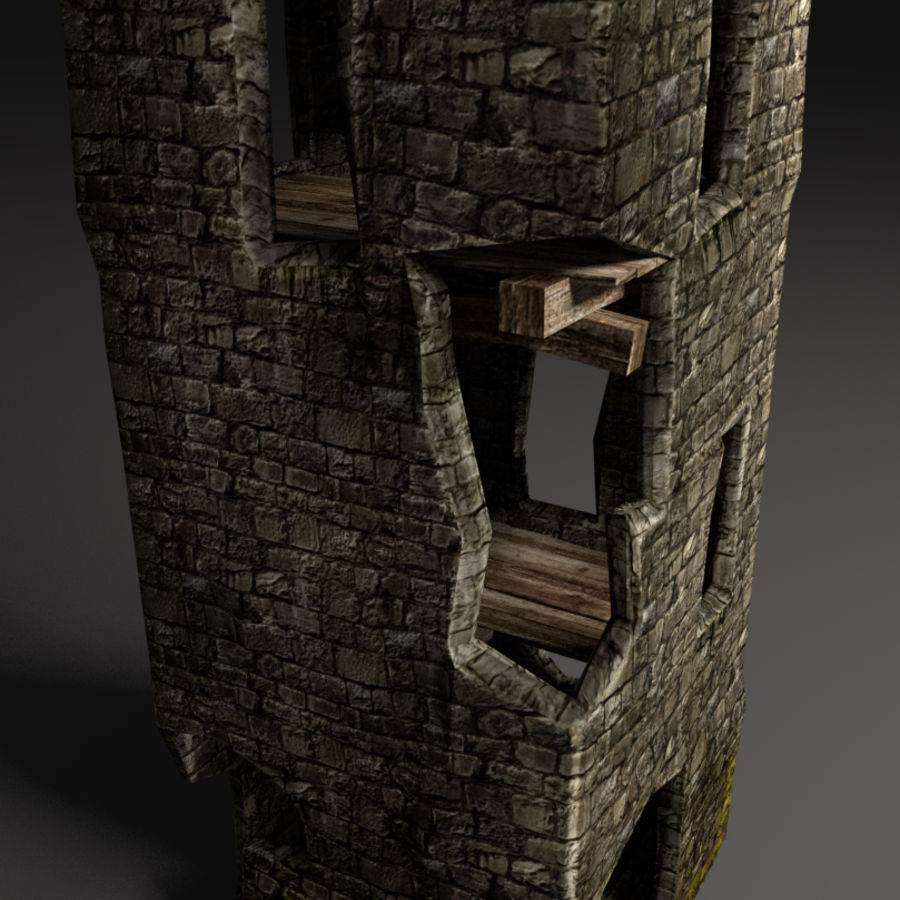 castle tower royalty-free 3d model - Preview no. 21