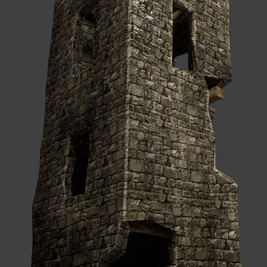 castle tower royalty-free 3d model - Preview no. 5