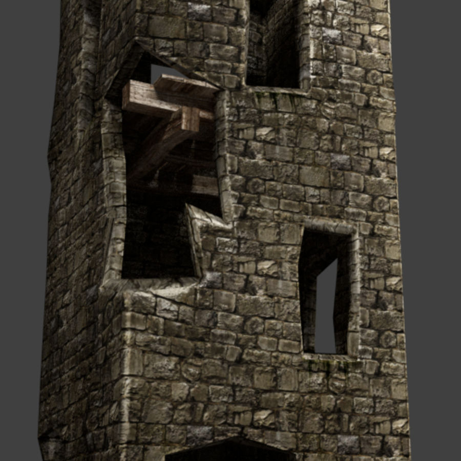 castle tower royalty-free 3d model - Preview no. 16