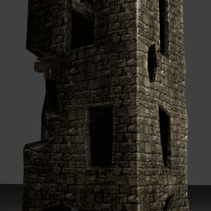 castle tower royalty-free 3d model - Preview no. 1
