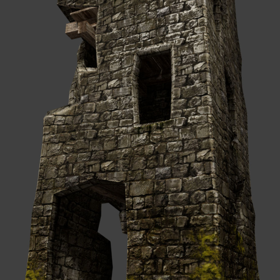 castle tower royalty-free 3d model - Preview no. 22