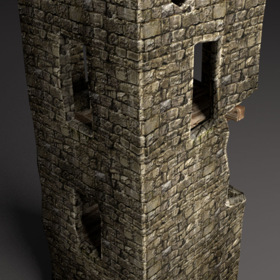 castle tower royalty-free 3d model - Preview no. 4