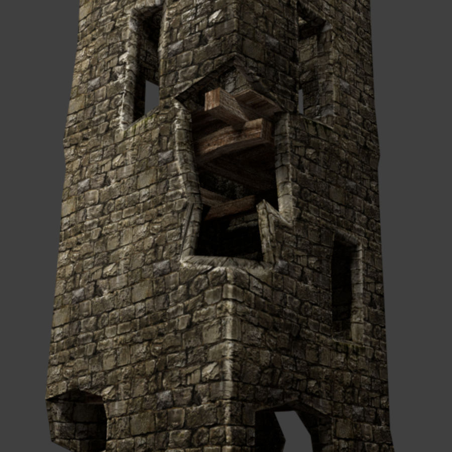 castle tower royalty-free 3d model - Preview no. 15