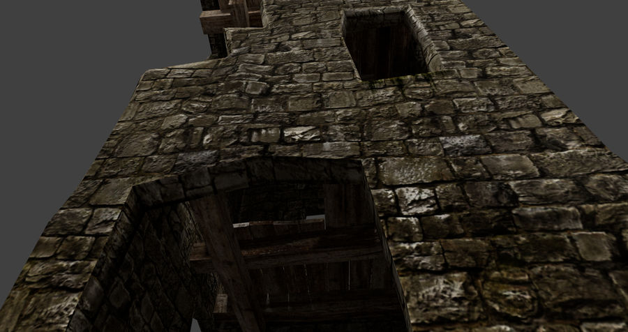 castle tower royalty-free 3d model - Preview no. 20