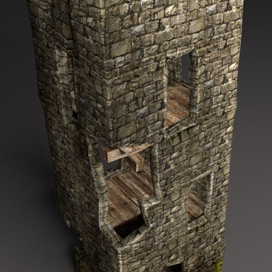 castle tower royalty-free 3d model - Preview no. 23