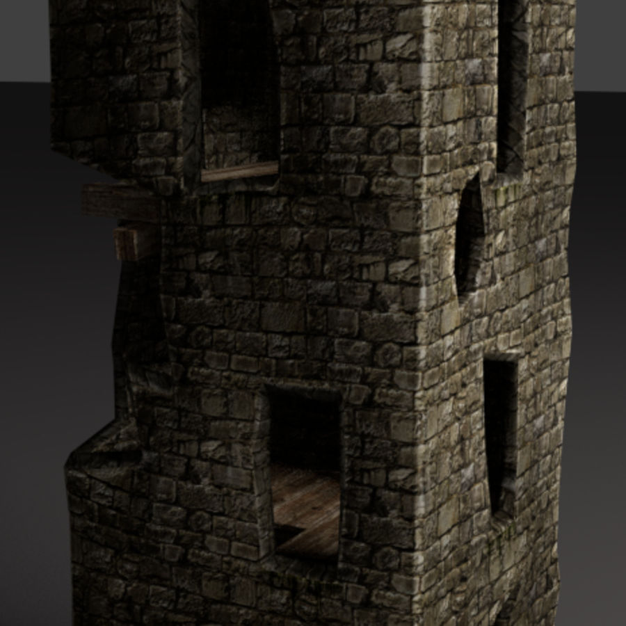castle tower royalty-free 3d model - Preview no. 3