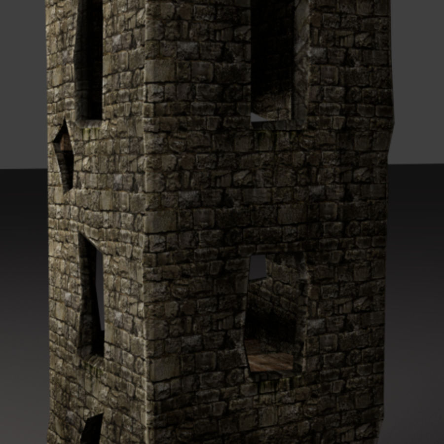 castle tower royalty-free 3d model - Preview no. 11