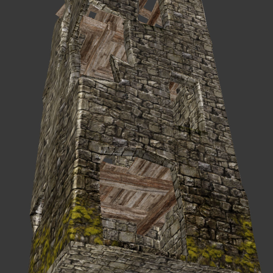 castle tower royalty-free 3d model - Preview no. 24