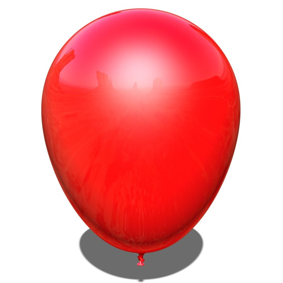 Balloon royalty-free 3d model - Preview no. 2