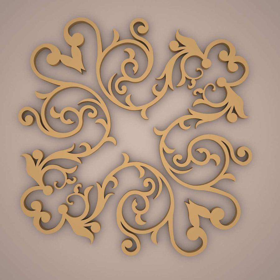 Ornamental Design 01 royalty-free 3d model - Preview no. 2
