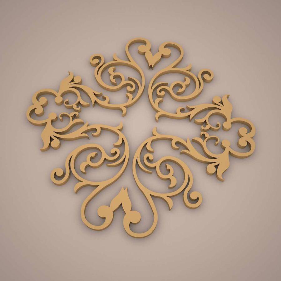 Ornamental Design 01 royalty-free 3d model - Preview no. 1