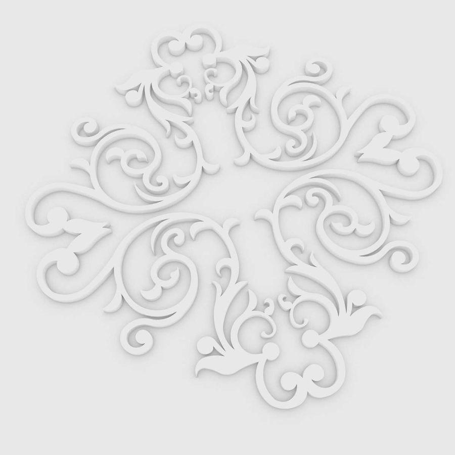 Ornamental Design 01 royalty-free 3d model - Preview no. 5