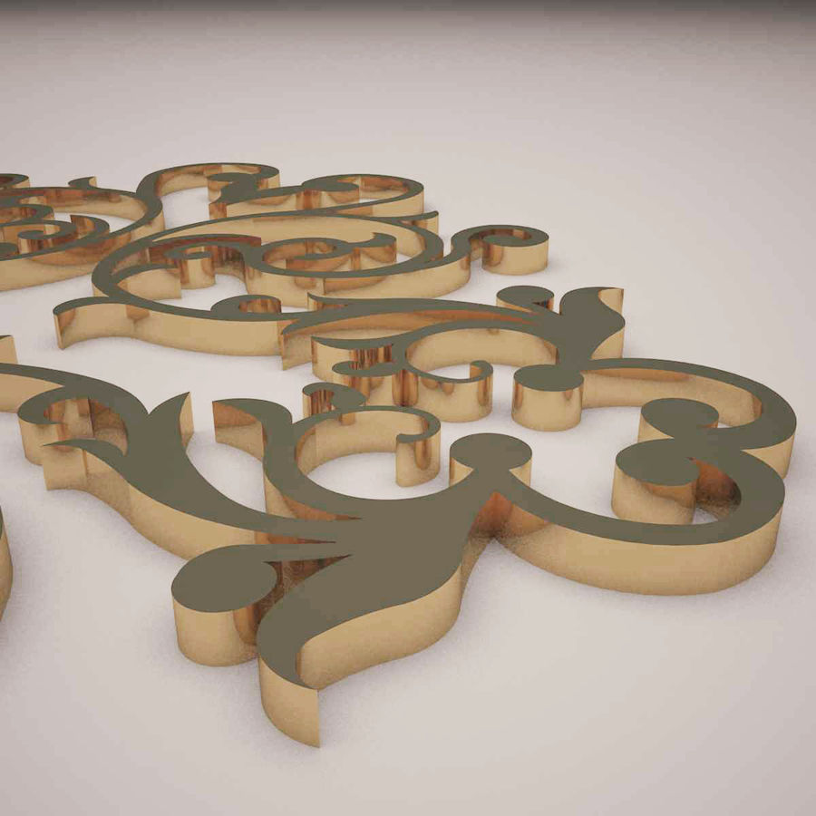 Ornamental Design 01 royalty-free 3d model - Preview no. 3