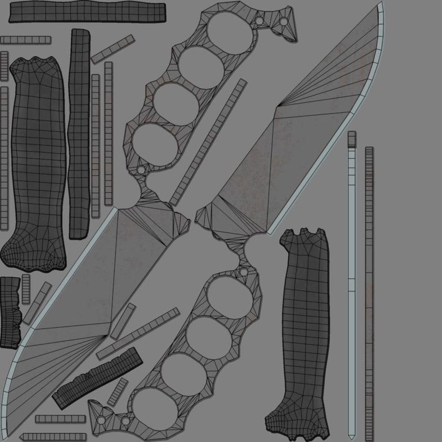 Noże royalty-free 3d model - Preview no. 10