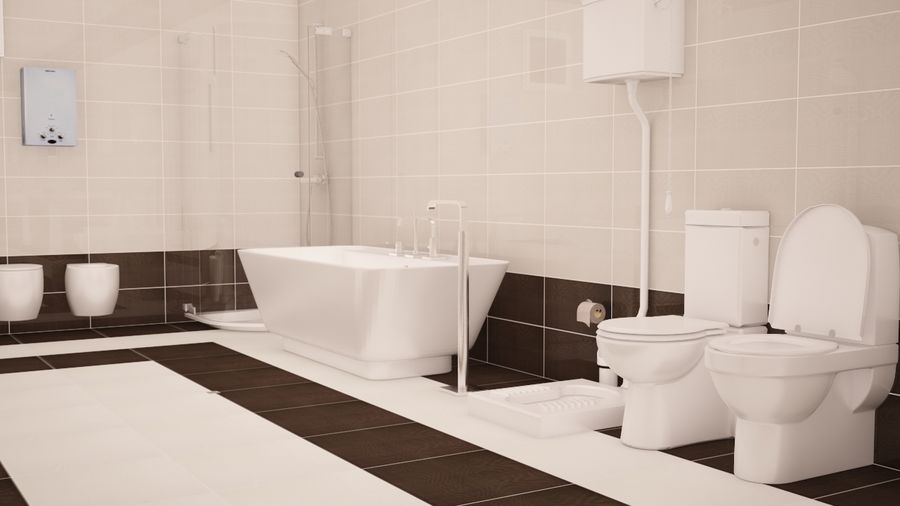 Accesorios de baño royalty-free modelo 3d - Preview no. 6