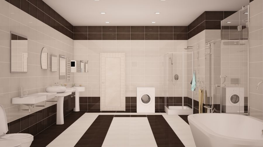 Accesorios de baño royalty-free modelo 3d - Preview no. 2