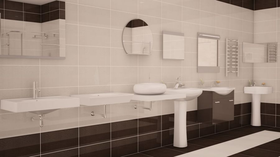 Bathroom accessories royalty-free 3d model - Preview no. 3