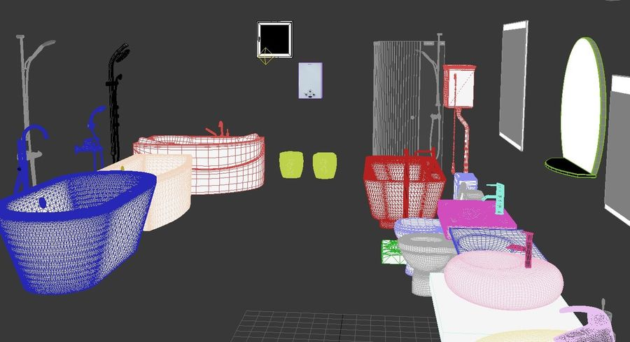 Accesorios de baño royalty-free modelo 3d - Preview no. 10