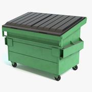 мусорный контейнер 3d model