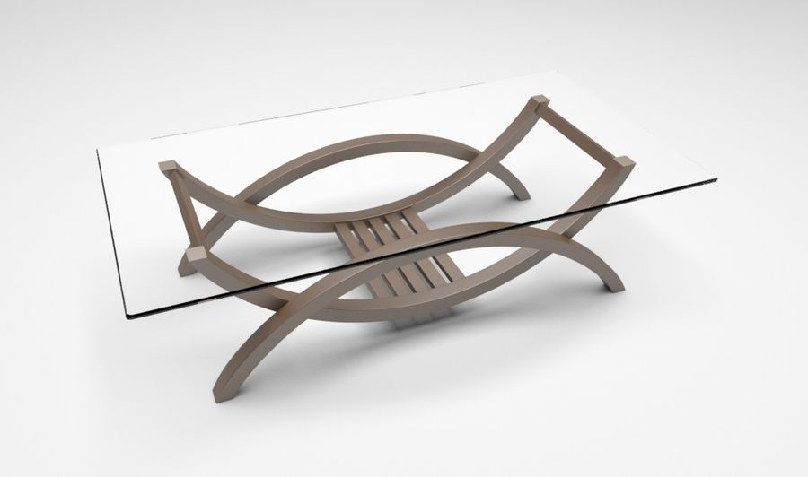 Glass Table royalty-free 3d model - Preview no. 1