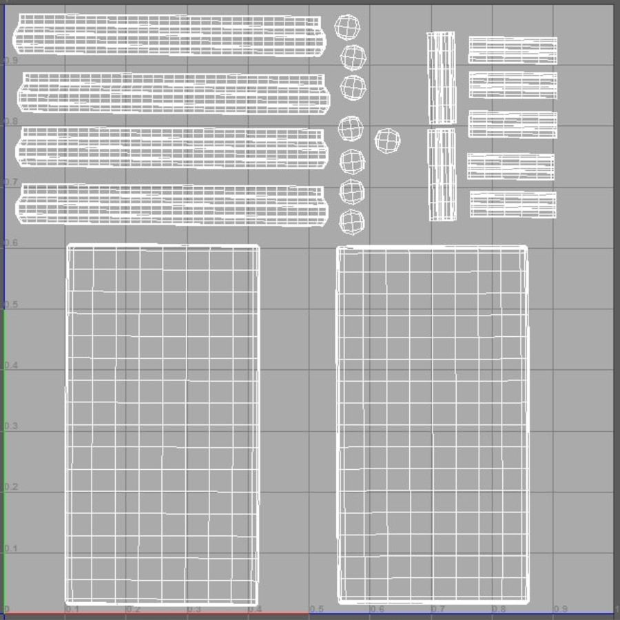 Glass Table royalty-free 3d model - Preview no. 4