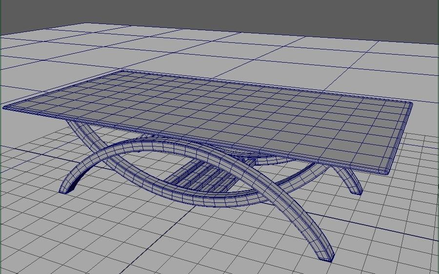 Glass Table royalty-free 3d model - Preview no. 2