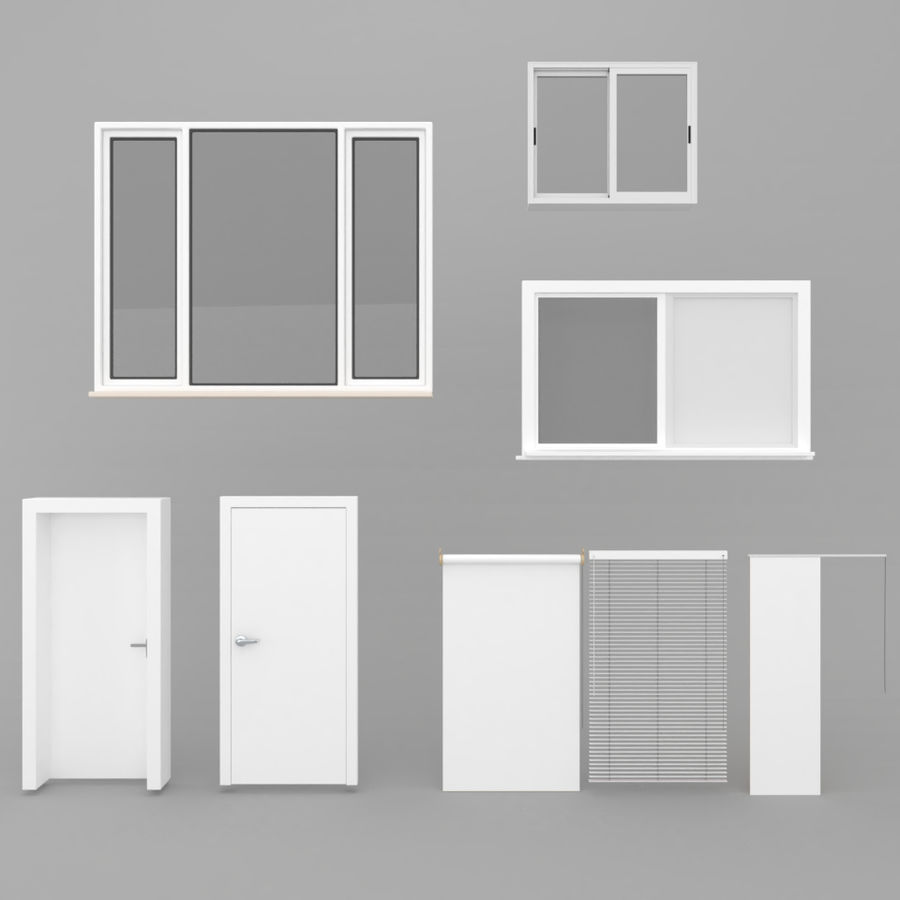 Architecture Pack royalty-free 3d model - Preview no. 1