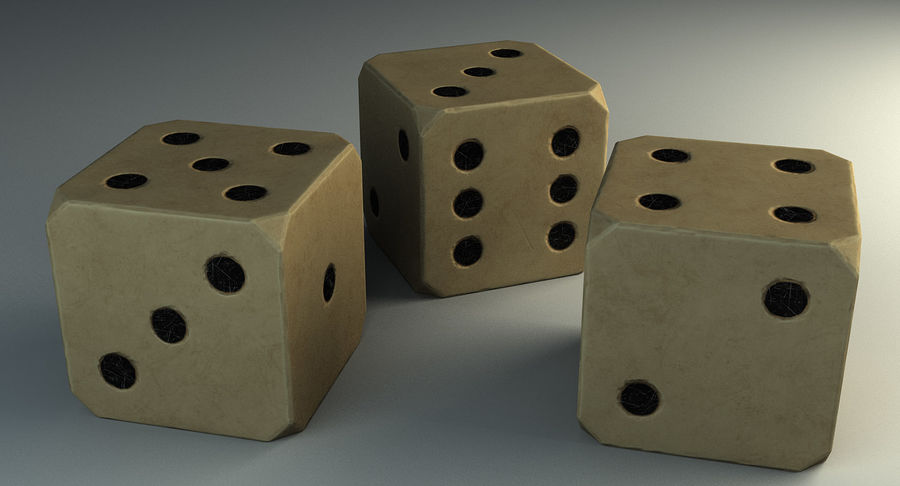 Dice royalty-free 3d model - Preview no. 8