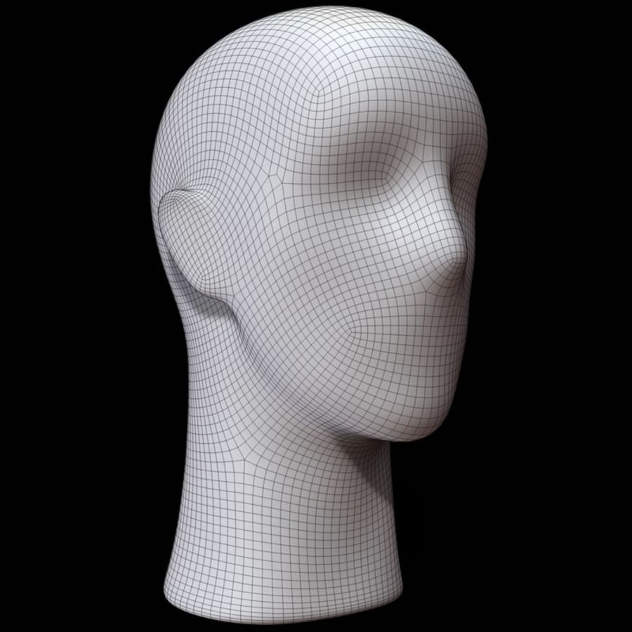 Mannequin hoofd royalty-free 3d model - Preview no. 13