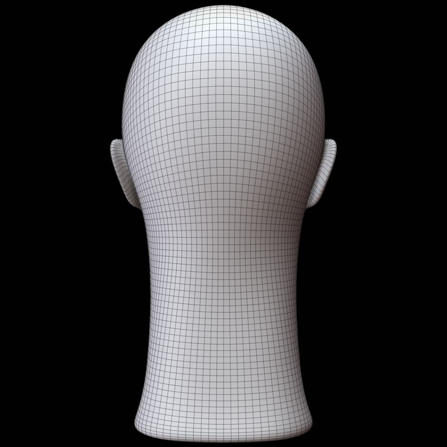 Testa di manichino royalty-free 3d model - Preview no. 16