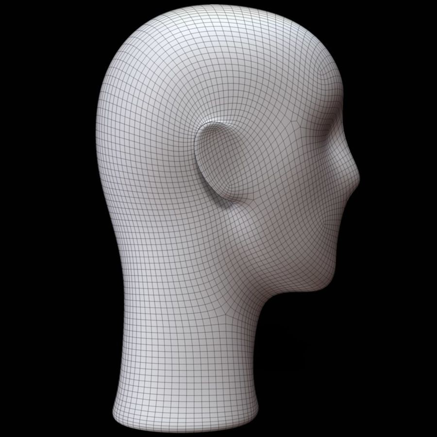 Mannequin hoofd royalty-free 3d model - Preview no. 14