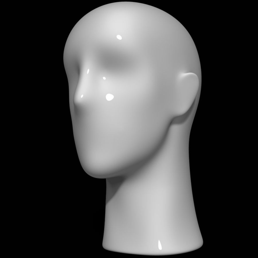 Mannequin hoofd royalty-free 3d model - Preview no. 9