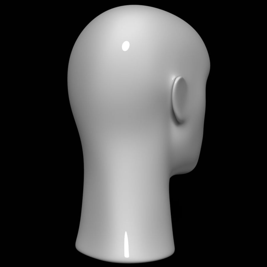 Mannequin hoofd royalty-free 3d model - Preview no. 5