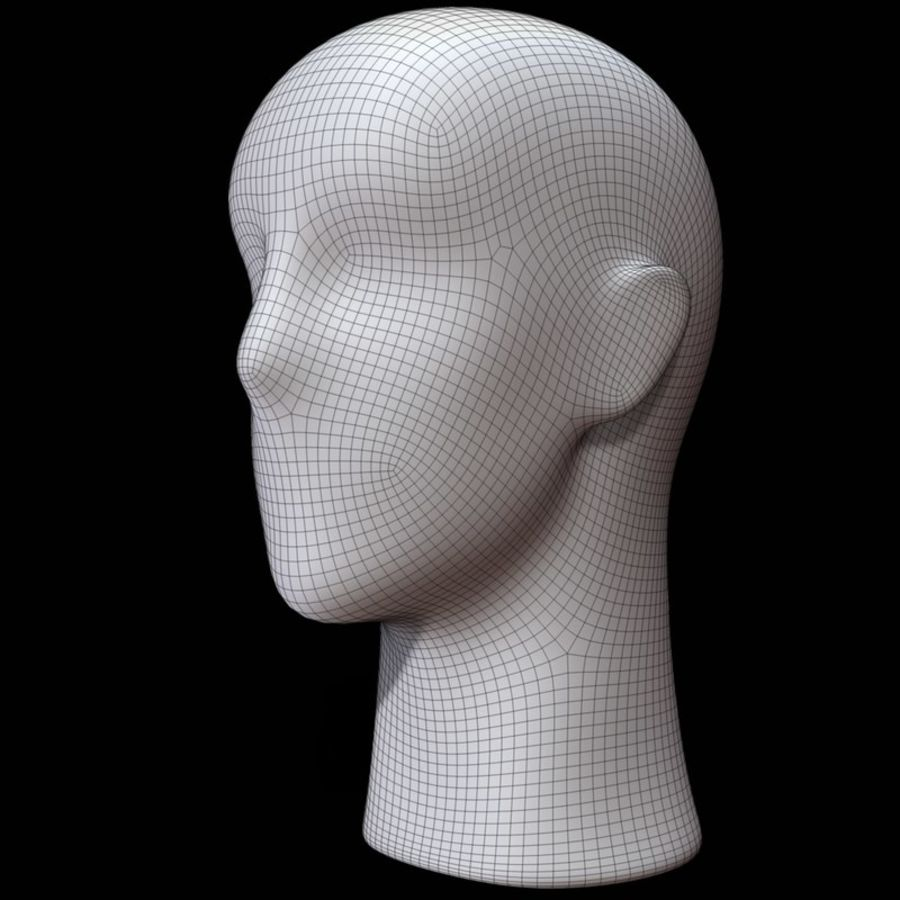 Mannequin hoofd royalty-free 3d model - Preview no. 19