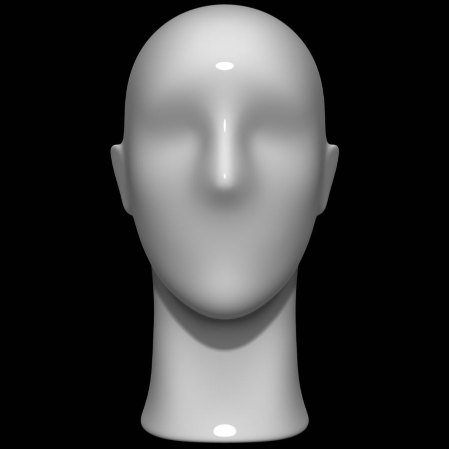 Mannequin hoofd royalty-free 3d model - Preview no. 2