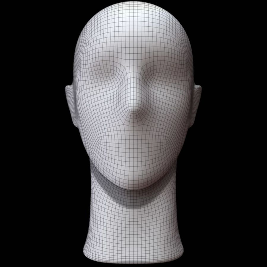 Mannequin hoofd royalty-free 3d model - Preview no. 12