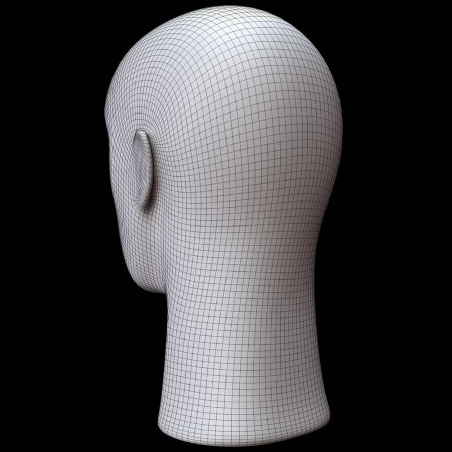 Mannequin hoofd royalty-free 3d model - Preview no. 17