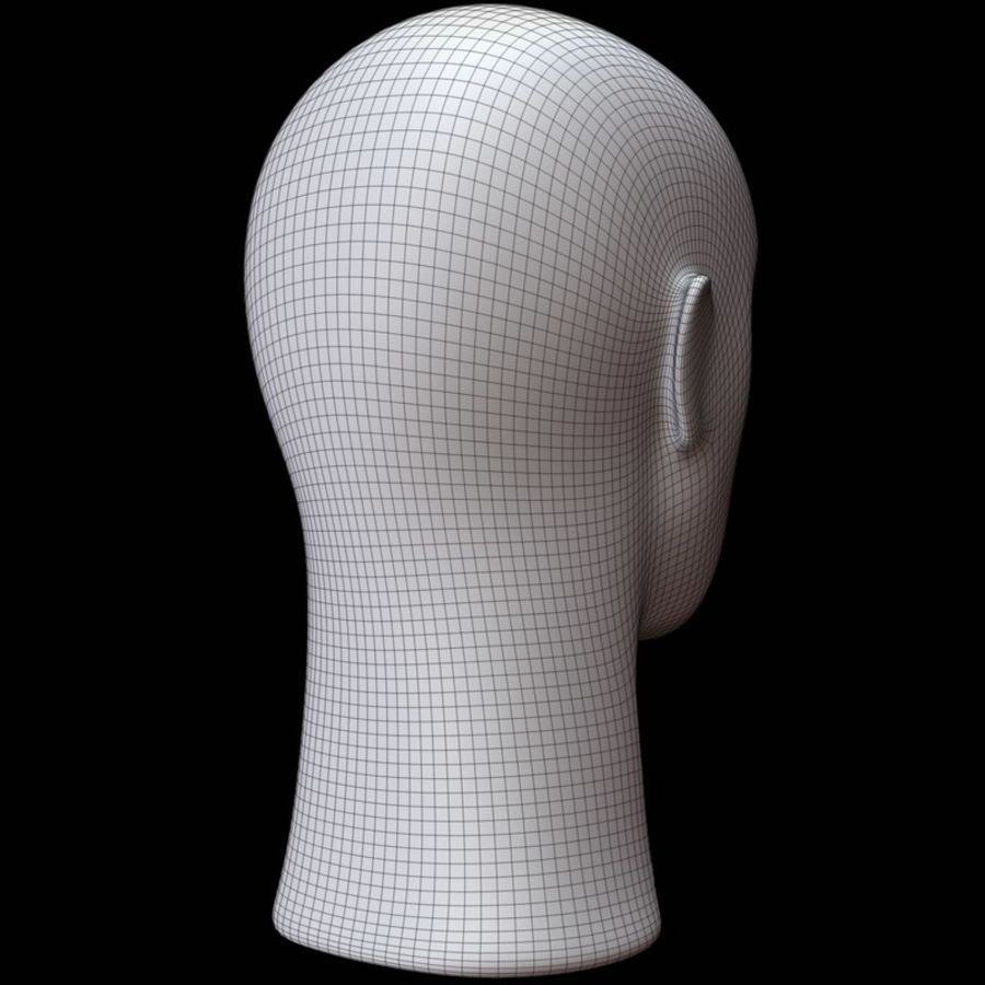 Mannequin hoofd royalty-free 3d model - Preview no. 15