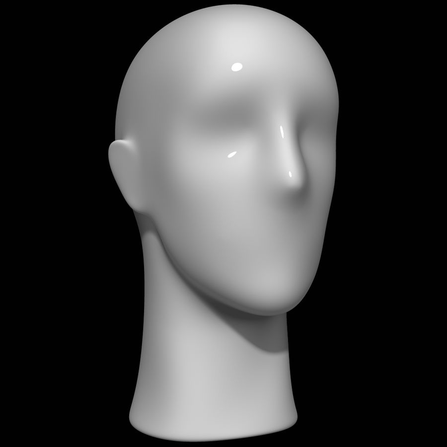 Testa di manichino royalty-free 3d model - Preview no. 1
