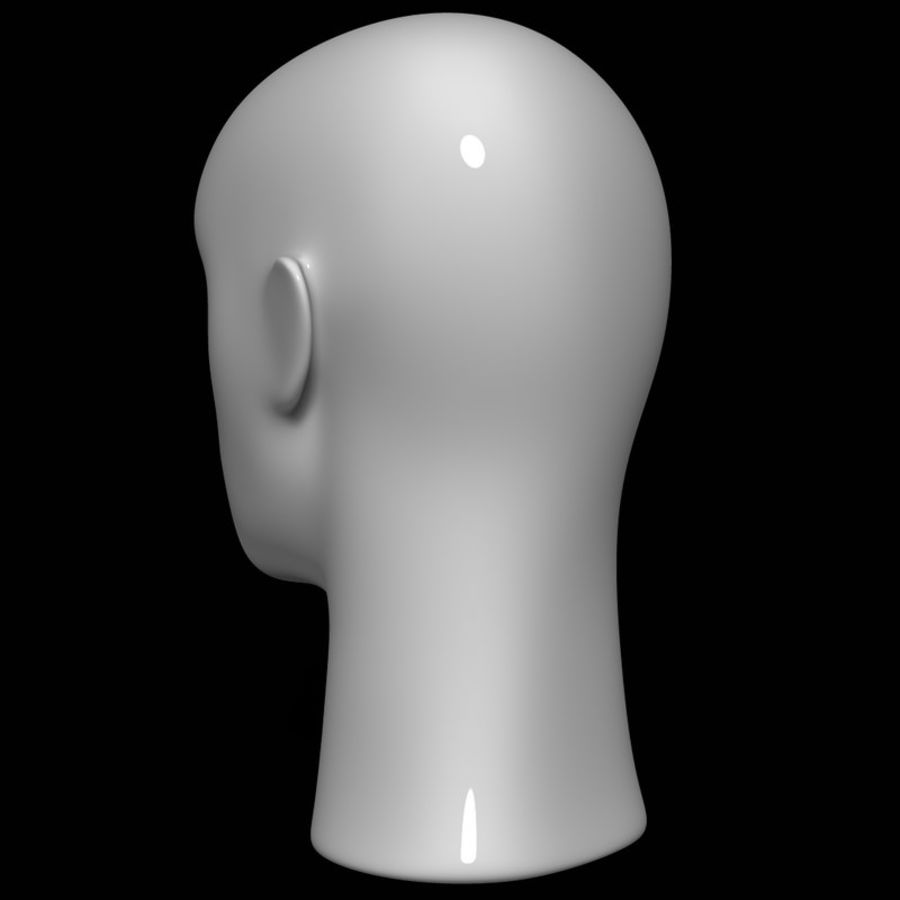 Mannequin hoofd royalty-free 3d model - Preview no. 7
