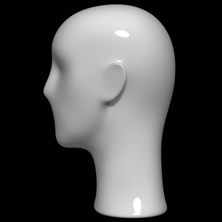 Mannequin hoofd royalty-free 3d model - Preview no. 8