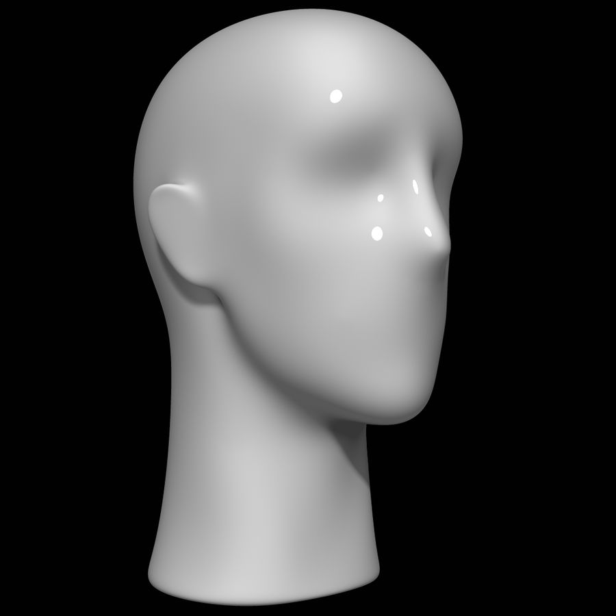 Testa di manichino royalty-free 3d model - Preview no. 3