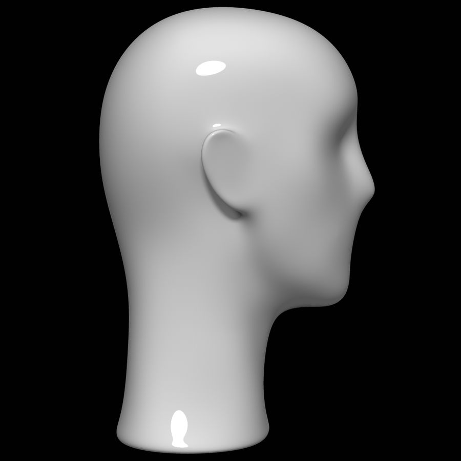 Testa di manichino royalty-free 3d model - Preview no. 4